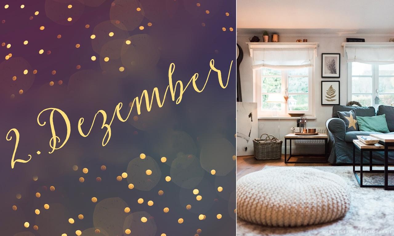 2. Dezember – Das Wohnzimmer im Advent