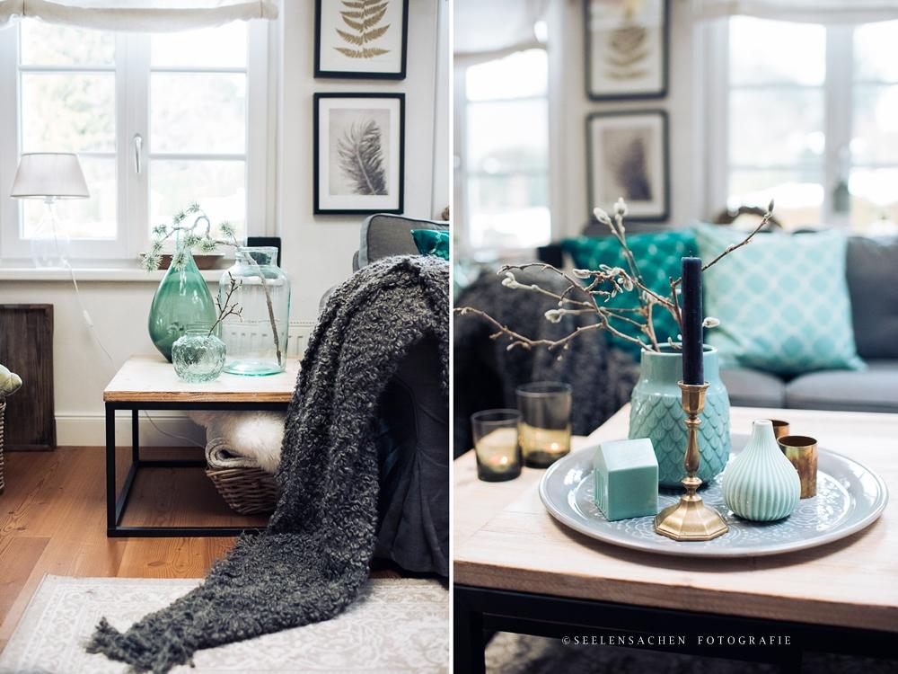 Frische Farben: das Wohnzimmer im Jänner