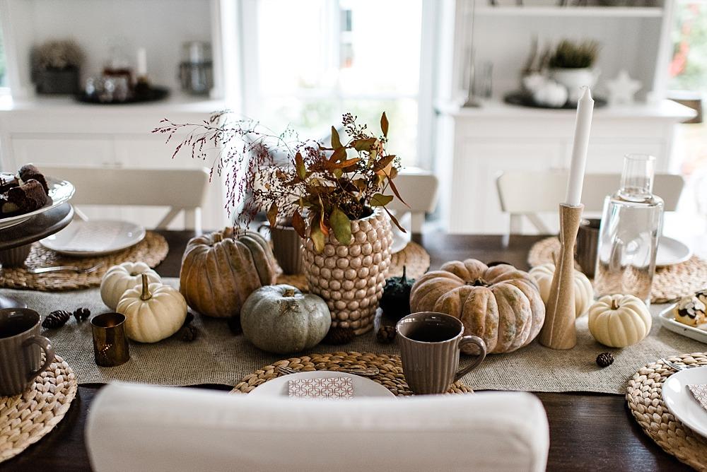 Besuch im Herbst und Tischdekoideen