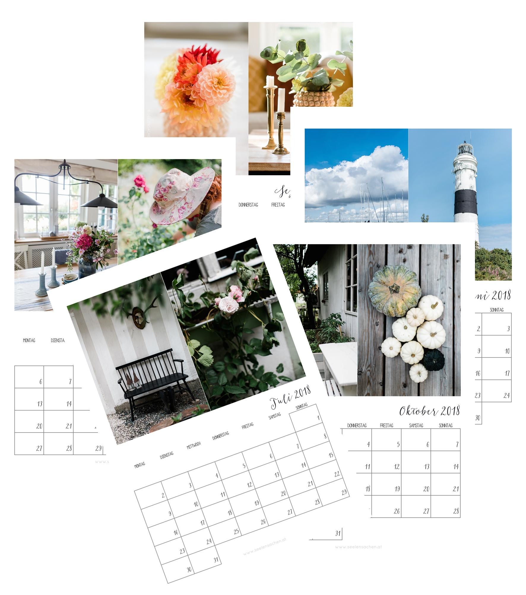 Der Seelensachenkalender 2018
