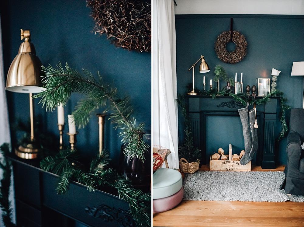 22. Dezember ~ Die Kaminkonsole wird noch weihnachtlicher