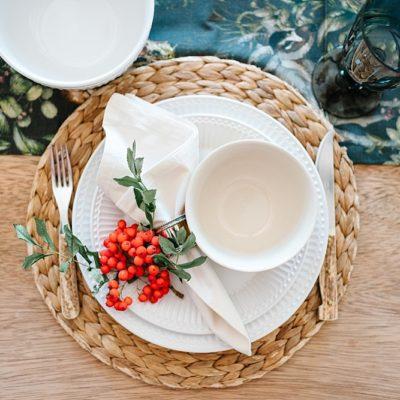 Herbstlich gedeckter Tisch mit meiner großen Liebe