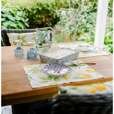 Terrassenzeit und ein sommerliches Tiramisu Rezept